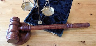 gavel on table