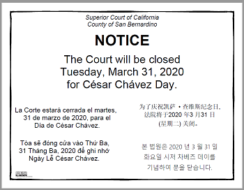 Court Closure Sign 033120