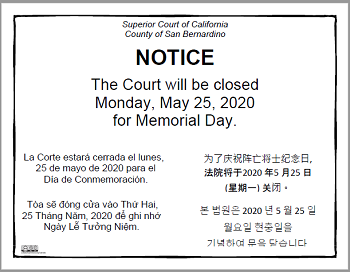 Court Closure Sign 05-25-20