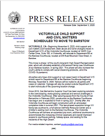 Victorville Child Support And Civil Matters Scheduled To Move To Barstow